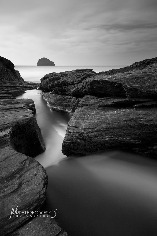 Trebarwith Strand and Gull Rock