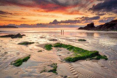 Cornwall Seascape Landscape Trevone Bay