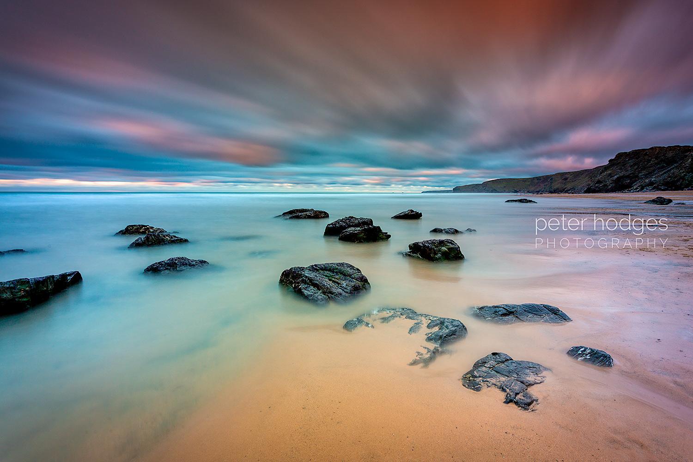 Watergate, Watergate Bay, Newquay, Near Newquay, Cornwall, Sunset,